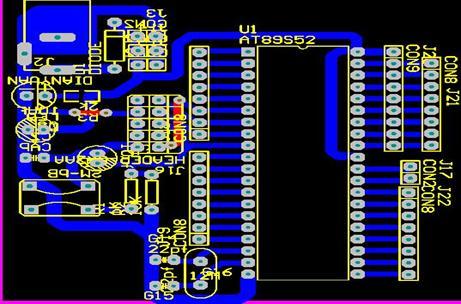 利用原理图设计工具绘制最小单片机系统和检测电路及报警电路的原理图